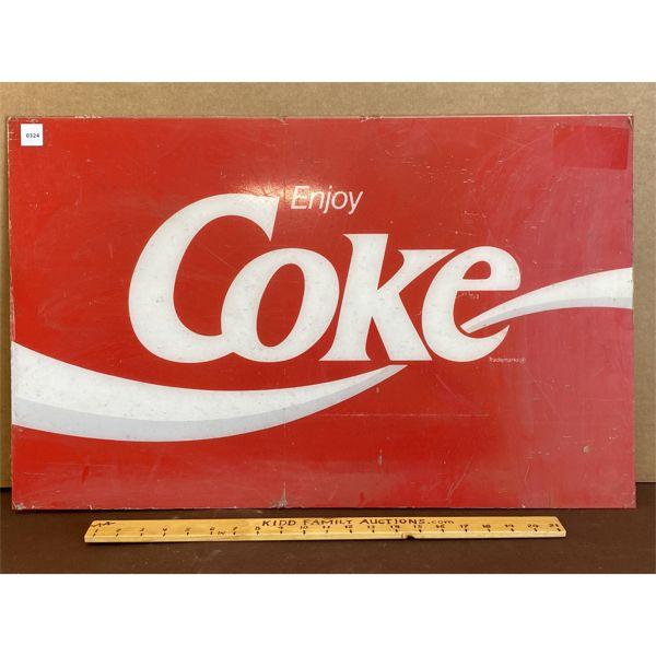 "ENJOY COKE ACRYLIC SIGN - 18"" X 29"""
