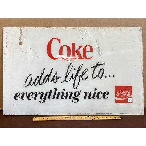 """COKE ACRYLIC SIGN - 22"""" X 35"""""""