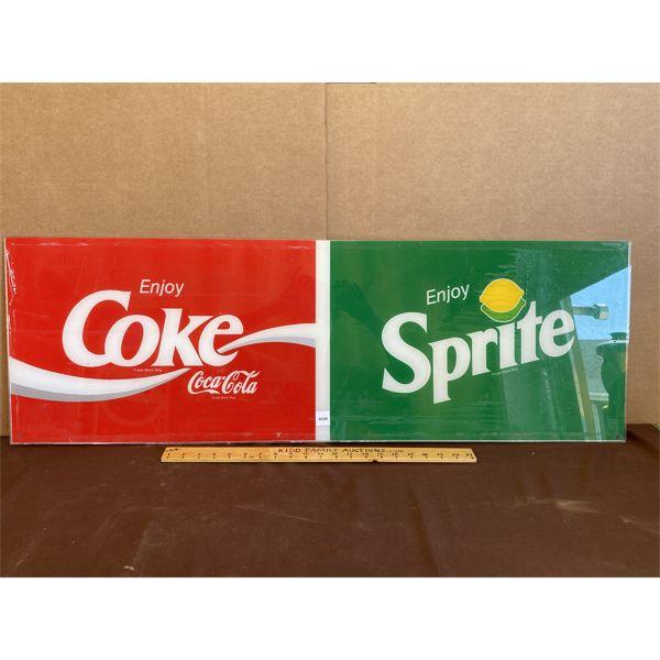 "COKE / SPRITE ACRYLIC SIGN - 14"" X 42"""