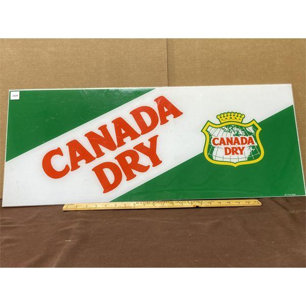 "CANADA DRY ACRYLIC SIGN - 14"" X 34"""