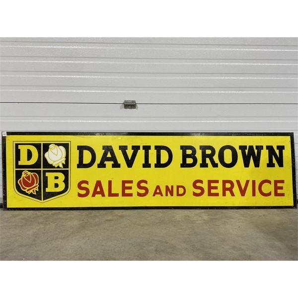 "DAVID BROWN 'SALES & SERVICE' SST SIGN - 19"" X 72"""