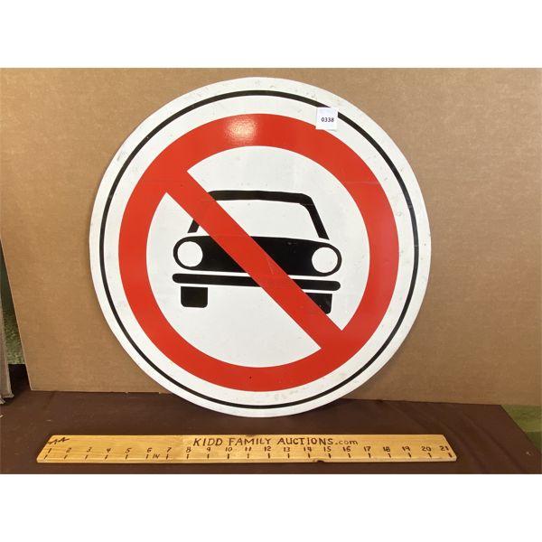 "NO CARS - SST ROAD SIGN - 18"""