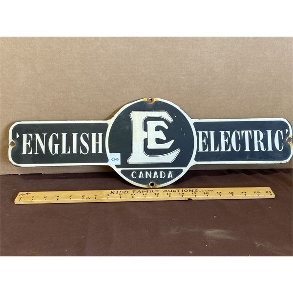 """ENGLISH ELECTRIC ROAD SIGN - 24"""""""