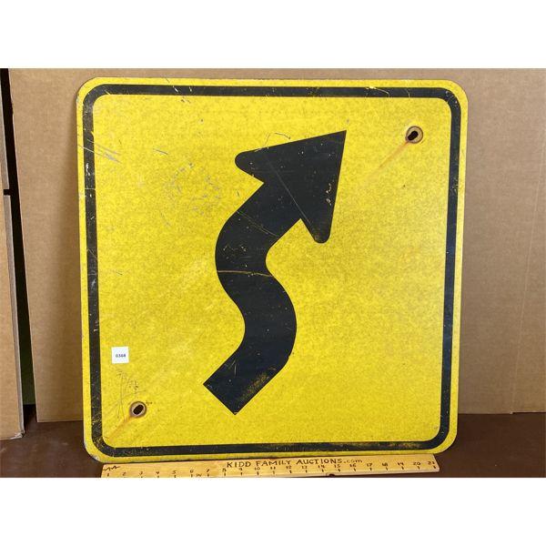 ROAD BENDS SIGN