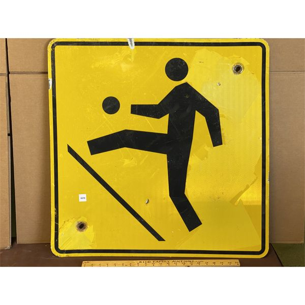 """'CHILDREN AT PLAY' ROAD SIGN - 30"""" SQ"""