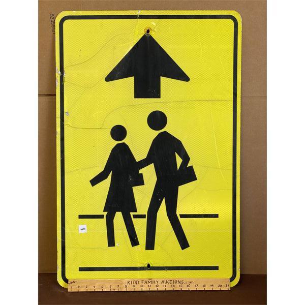 "SCHOOL CROSSING ROAD SIGN - 24"" X 36"""