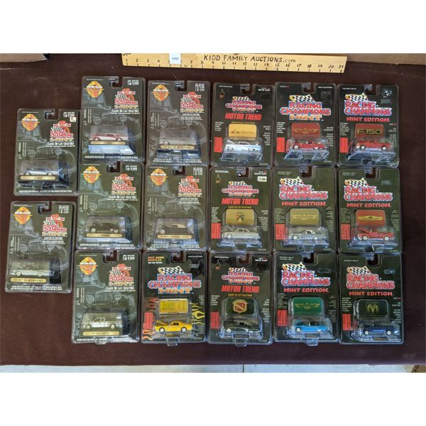 LOT OF 17 - RACING CHAMPIONS MINT VARIETY TOY CARS