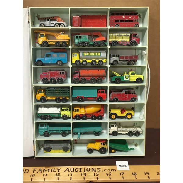 VINTAGE MATEL MINATURE CAR COLLECTION IN CARRY CASE