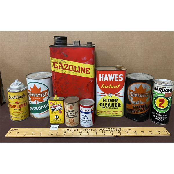 JOB LOT OF COLLECTIBLE CANS - SUPERTEST,  ETC