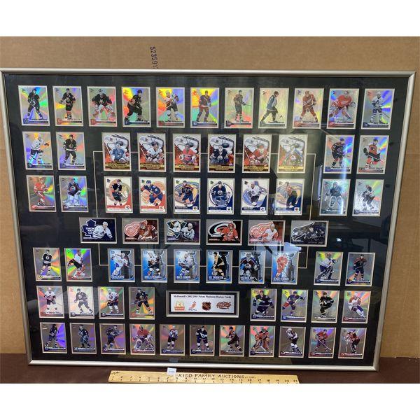 """MACDONALD'S 2002/2003 HOCKEY CARD DISPLAY - 32"""" X 40"""""""