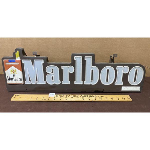 """MARLBORO ILLUMINATING 3D HANGING ACRYLIC SIGN - 7"""" X 26"""""""