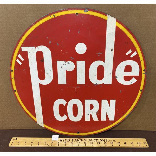 "PRIDE CORN DST SIGN - 19"""