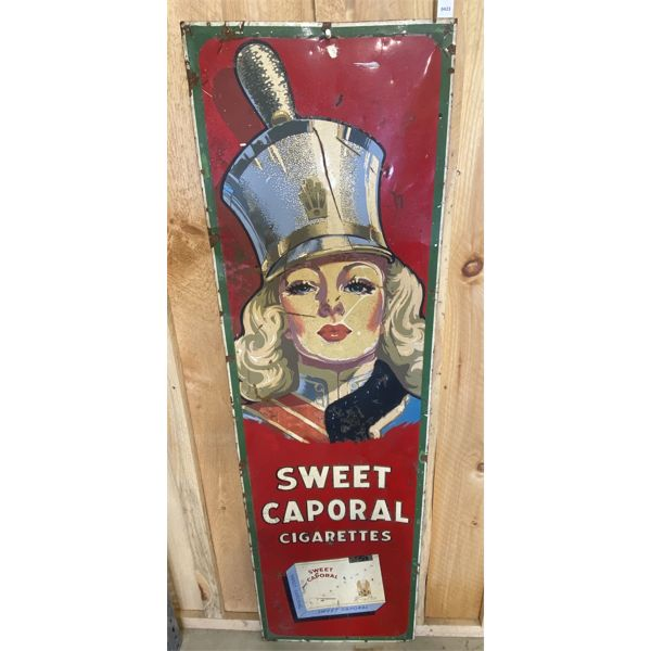 """SWEET CAPORAL CIGARETTES SST SIGN - 18"""" X 60"""" - ST THOMAS"""