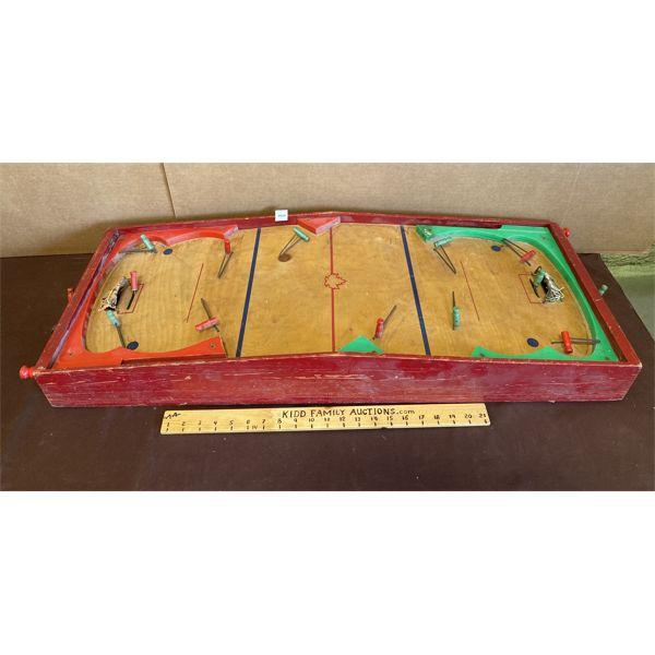ANTIQUE WOODEN HOCKEY GAME
