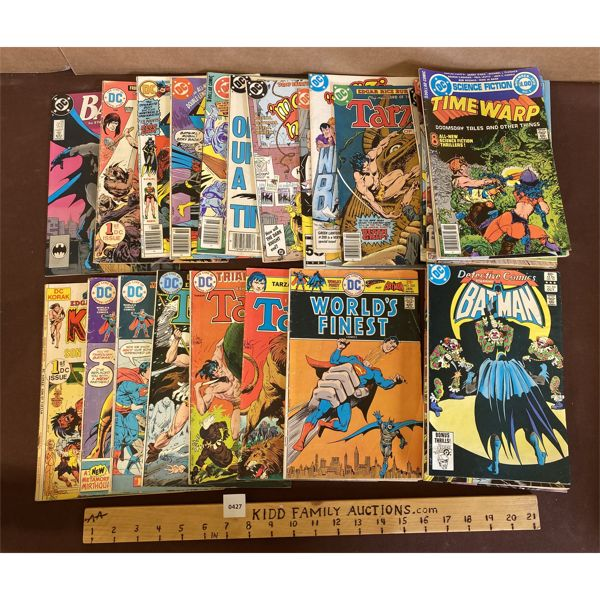 LOT OF DC COMICS - INCLUDES 20 CENT TARZANS & 25 CENTS WORLD'S FINEST