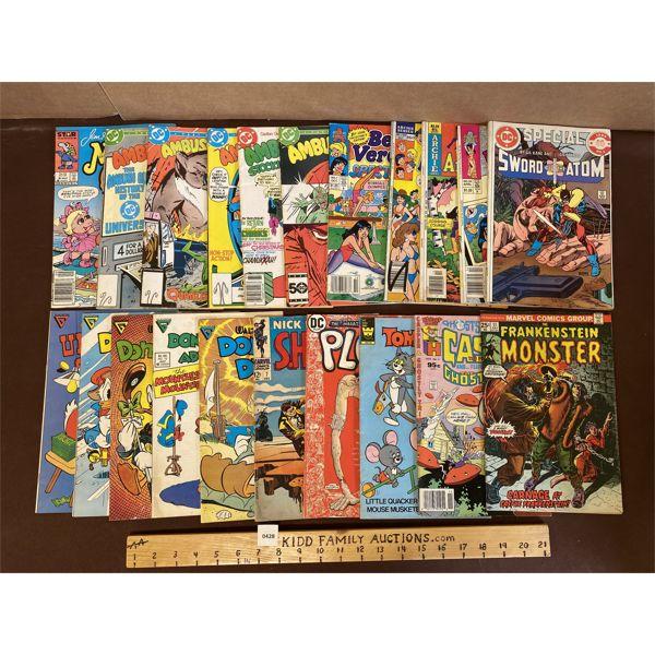 LARGE QTY OF MISC COMICS - INCLUDES: S.H.I.E.L.D., FRANKENSTEIN, TOM & JERRY, CASPER #1