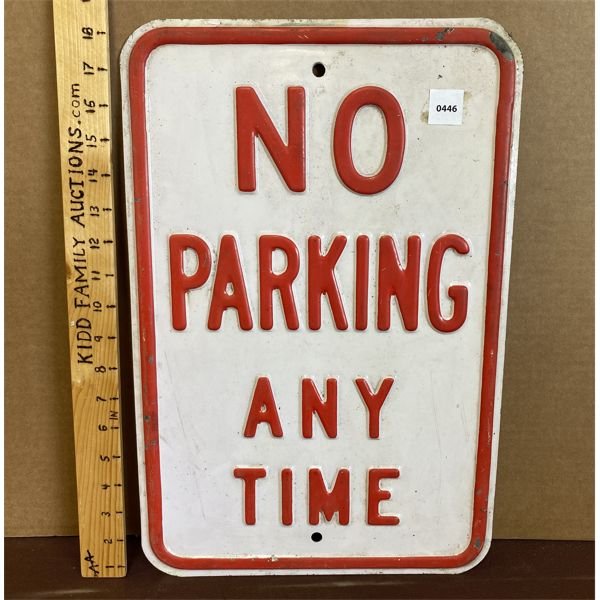 """NO PARKING EMBOSSED SIGN - 12"""" X 18"""""""