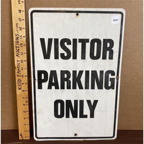 "VISITOR PARKING SIGN - 12"" X 18"""