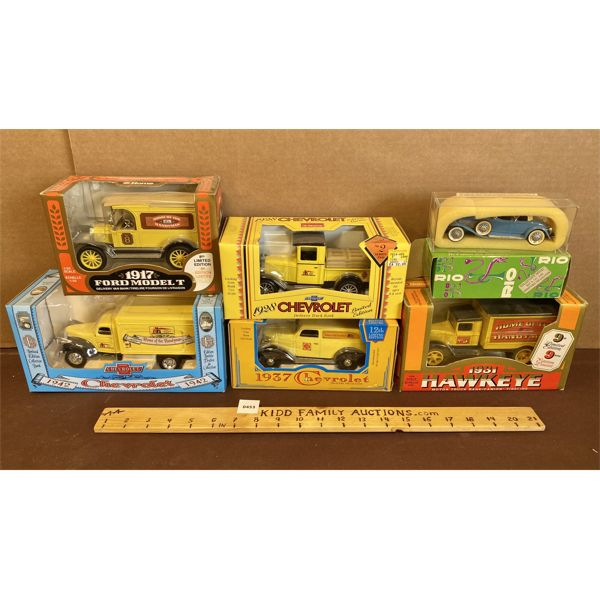 LOT OF 6 - DIE-CAST VEHICLES - HOME HARDWARE COLLECTIBLES