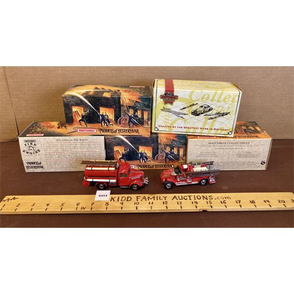 LOT OF 5 - MATCHBOX - FIRE ENGINES IN ORIG BOX