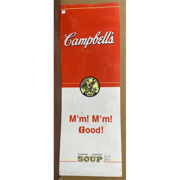 CAMPBELL'S SOUP ACRYLIC 4' SIGN