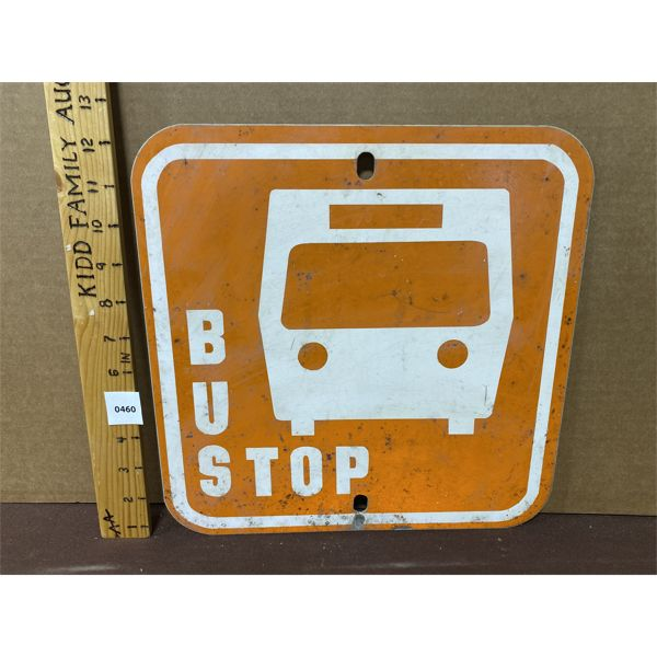"""BUS STOP - DOUBLE SIDED - 12"""" SQ"""