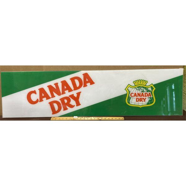 "CANADA DRY ACRYLIC SIGN - 14"" X 52"""