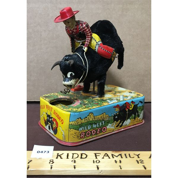 LINEMAR TOYS WILD WEST RODEO BULL RIDER