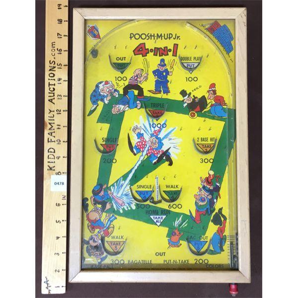 POOSH-M-UP JR. 4 IN 1 PINBALL GAME