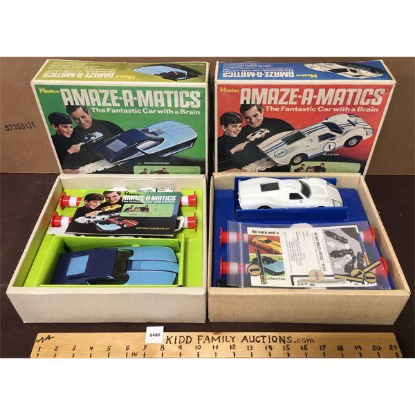 LOT OF 2 - HASBRO AMAZE-A-MATICS TOY CARS