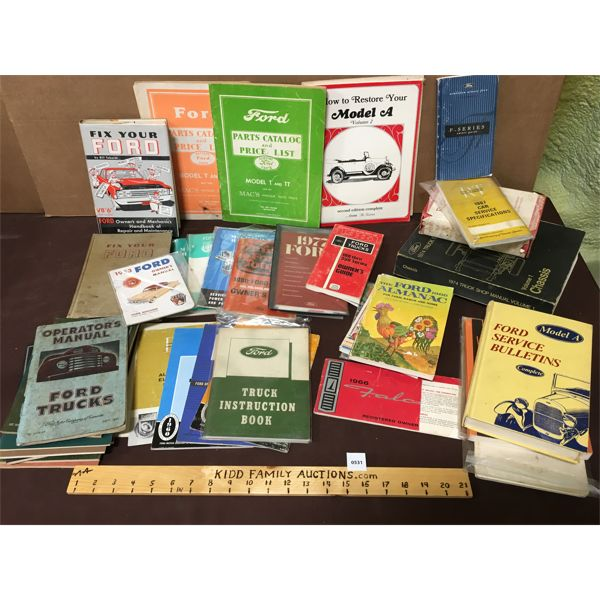 LARGE LOT OF FORD MANUALS, HANDBOOKS, ECT