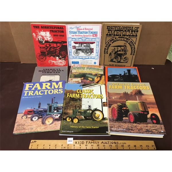 LOT OF 9 - TRACTOR RELATED BOOKS