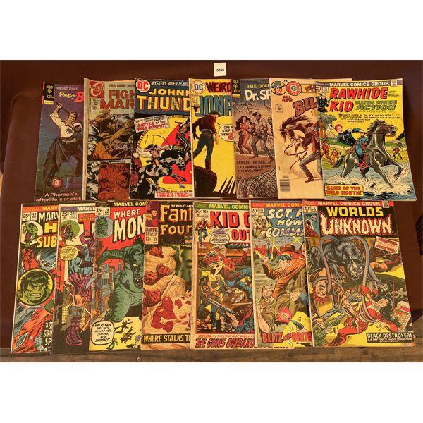 LOT OF DC COMICS - 12 & 20 & 25 CENT EDITIONS