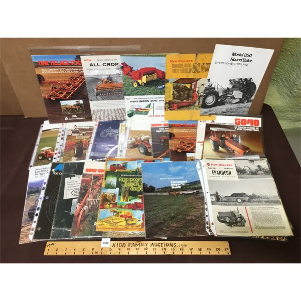 LARGE LOT OF TRACTOR AND EQUIPMENT RELATED EPHEMERA