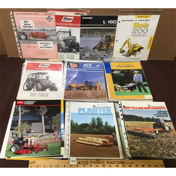 LARGE LOT OF TRACTOR AND EQUIPMENT BROCHURES AND EPHEMERA