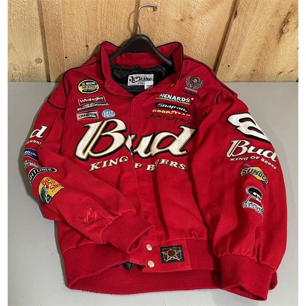 NASCAR MEN'S L #8 RACING JACKET & 4 X BALL CAPS - SEE ALL IMAGES