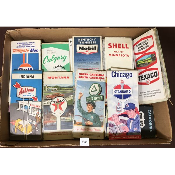 LOT OF GAS AND OIL RELATED ROAD MAPS