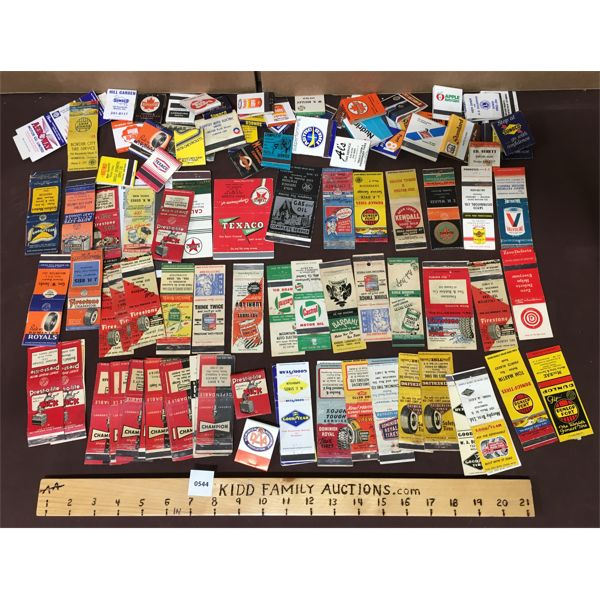 LARGE LOT OF GAS AND OIL RELATED MATCHBOOKS