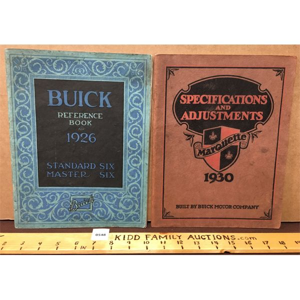 PAIR OF ANTIQUE BUICK REFERENCE BOOKS