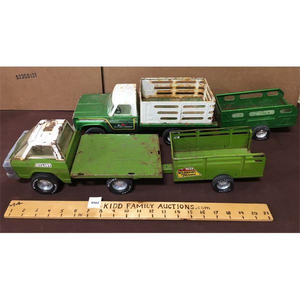 LOT OF NYLINT TOYS TRUCK AND TRAILERS