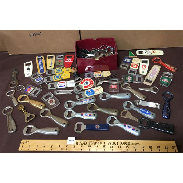 LARGE LOT OF BOTTLE OPENERS