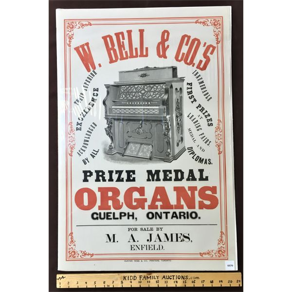 W. BELL & CO'S PRIZE MEDAL ORGANS GUELPH, ONT.