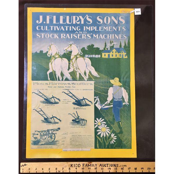 J. FLEURY'S & SONS ADVERTISEMENTS
