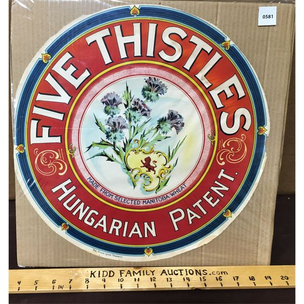 EARLY 1900'S FIVE THISTLE  ADVERTISMENT