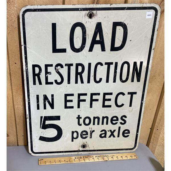 ROAD SIGN - LOAD RESTRICTION