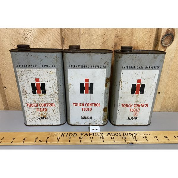 LOT OF 3 - IH TOUCH CONTROL FLUID CANS