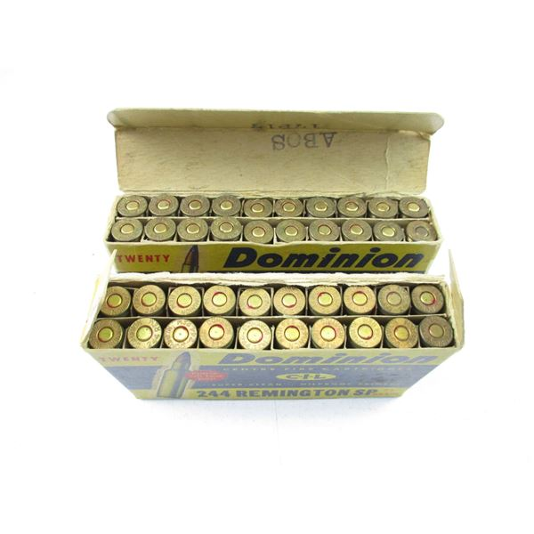 .244 REM, DOMINION COLLECTIBLE AMMO