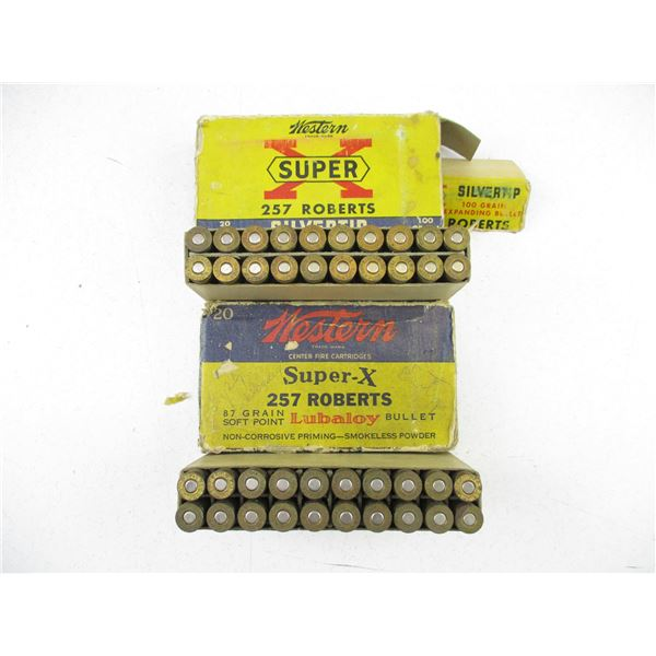 ASSORTED .257 ROBERTS, COLLECTIBLE AMMO