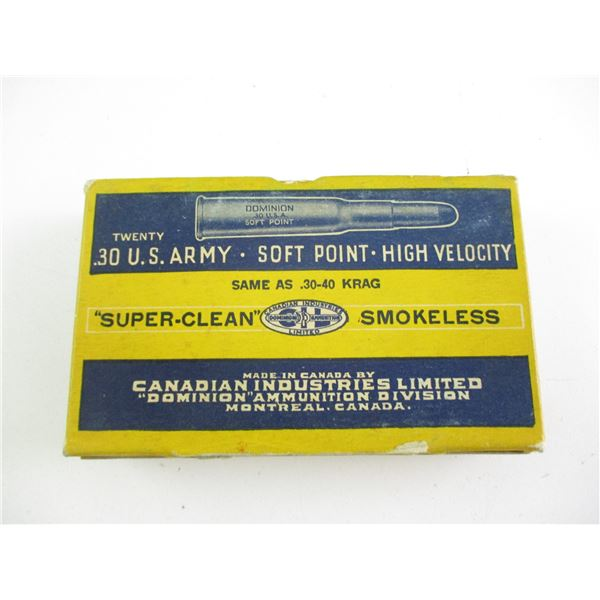 .30 US ARMY, DOMINION COLLECTIBLE AMMO