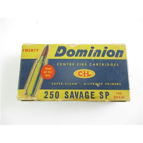 .250 SAVAGE, DOMINION COLLECTIBLE AMMO